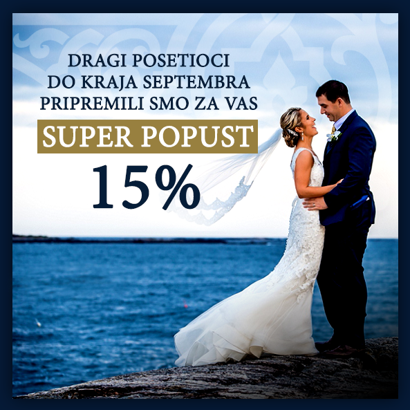 Popust 15% do kraja septembra!